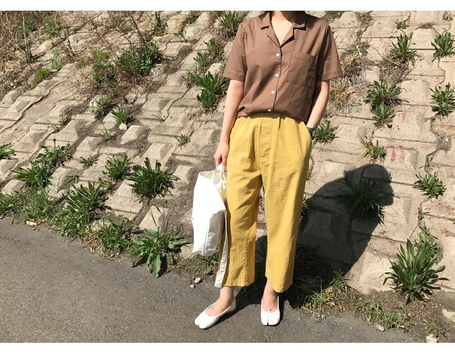 Coastal linen banding pants_S (size : free)