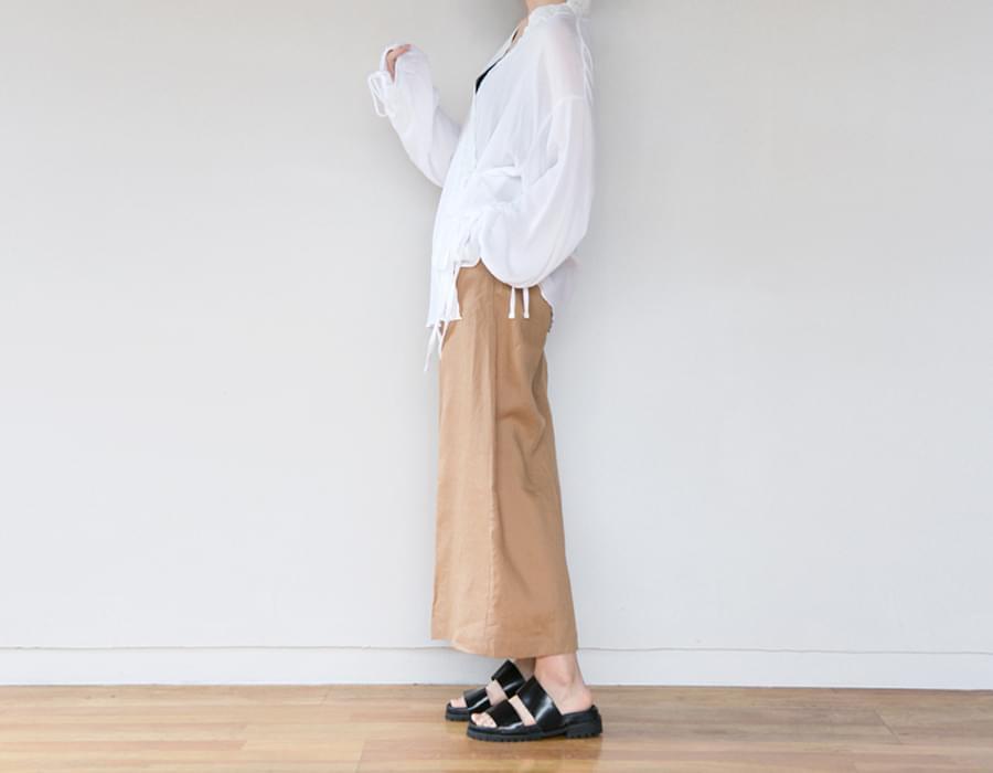 Moca linen wide pants_H (size : free)