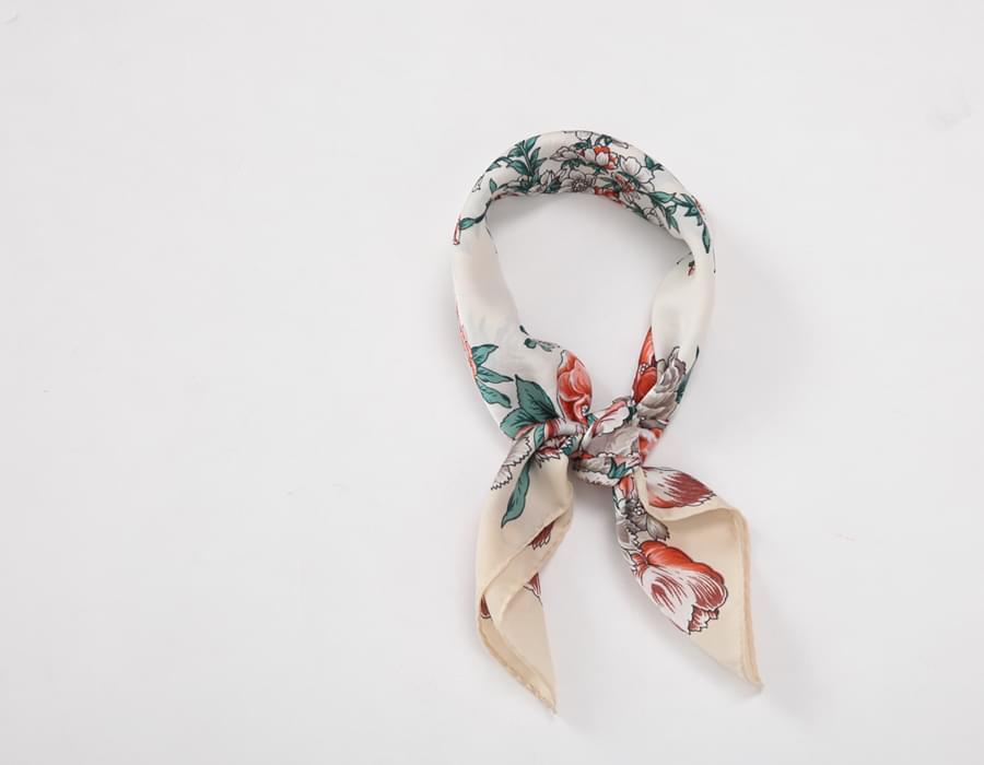 Vintage garden scarf_H (size : one)