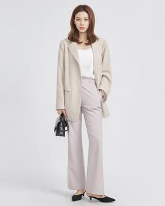 overfit long 3 button jacket (2 colors)
