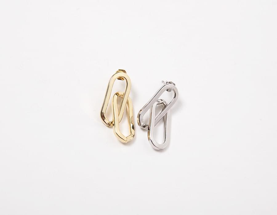 Clip bold earring_K(size : one)