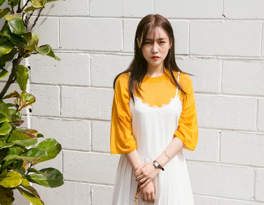 Margarine soft color knit_M (size : free)