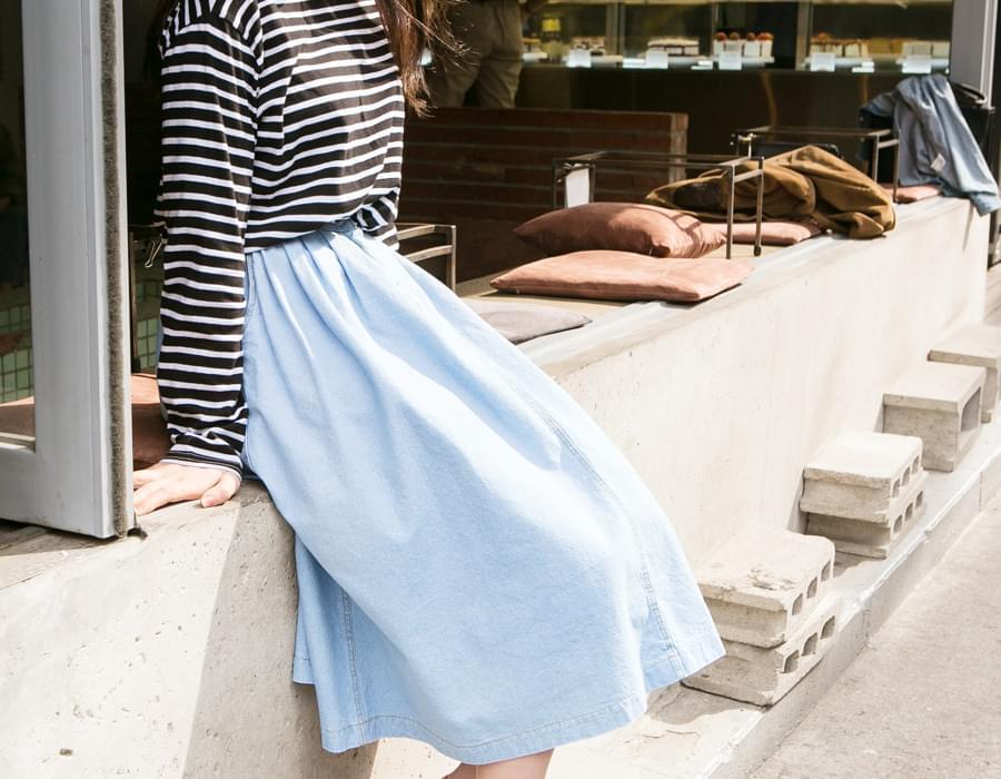 Niko cotton flare skirt_M (size : free)