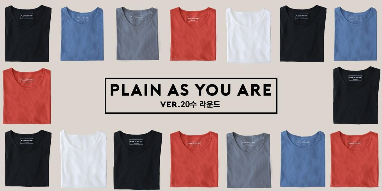 PLAIN-T-shirt (ver.20 number round neck)