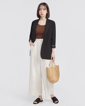 fine linen single jacket (2 colors)