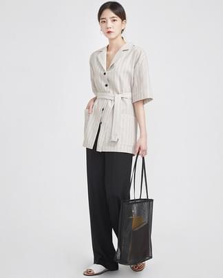 modern stripe 2-way jacket (2 colors)