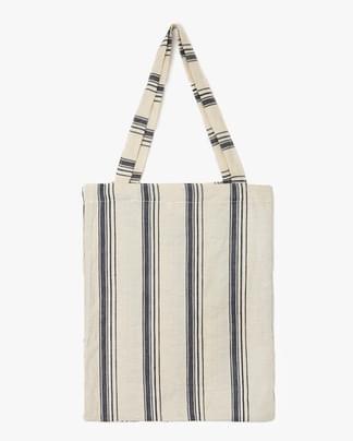 stripe linen ecobag