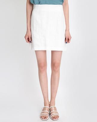 clean linen mini skirt (3 colors)