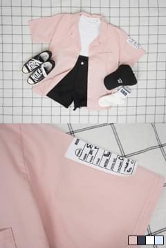 멤버패치반팔셔츠