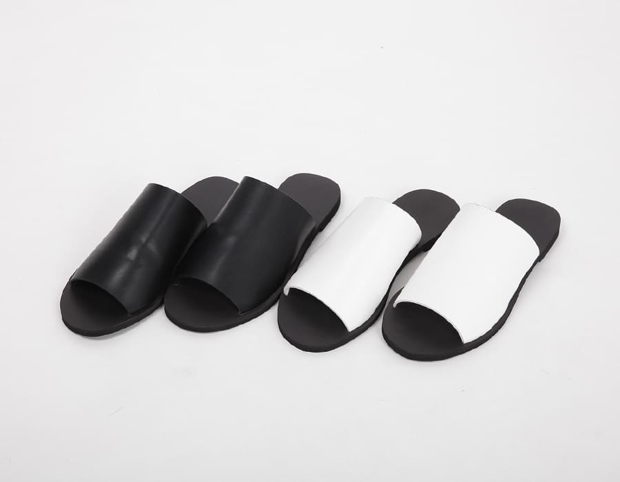 Wide and flat slipper_S (size : 230,235,240,245,250)