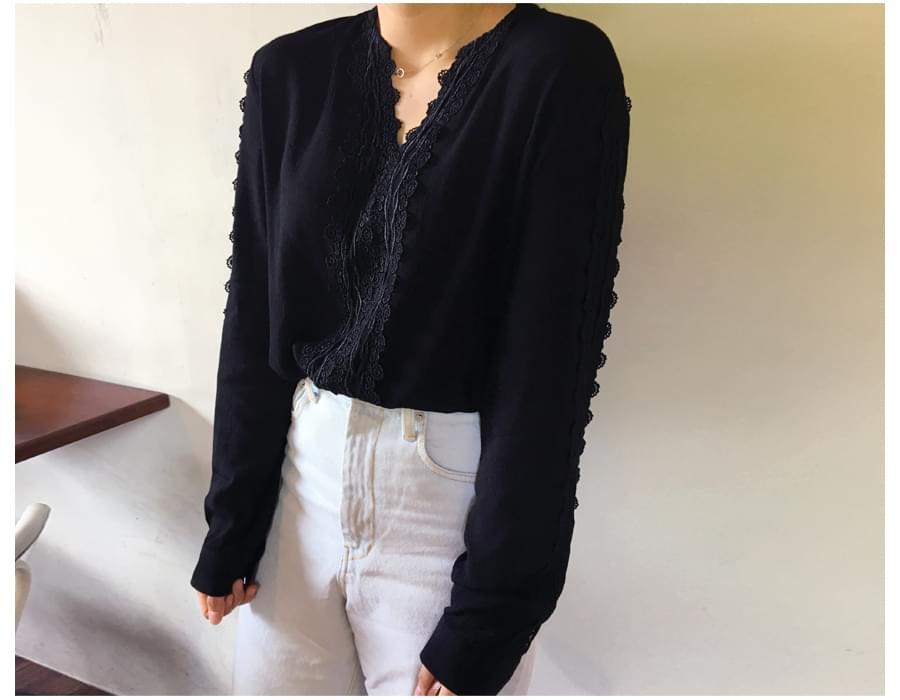 Santorini lace blouse_S (size : free)