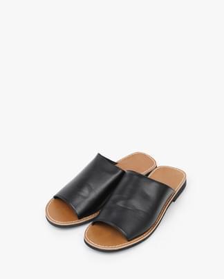 wide open toe slipper (2 colors)