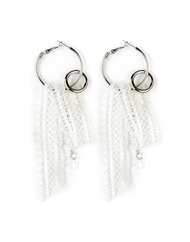 Lace ring earring