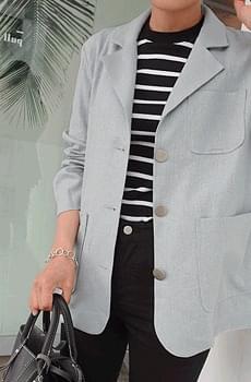 Letter-linen jacket