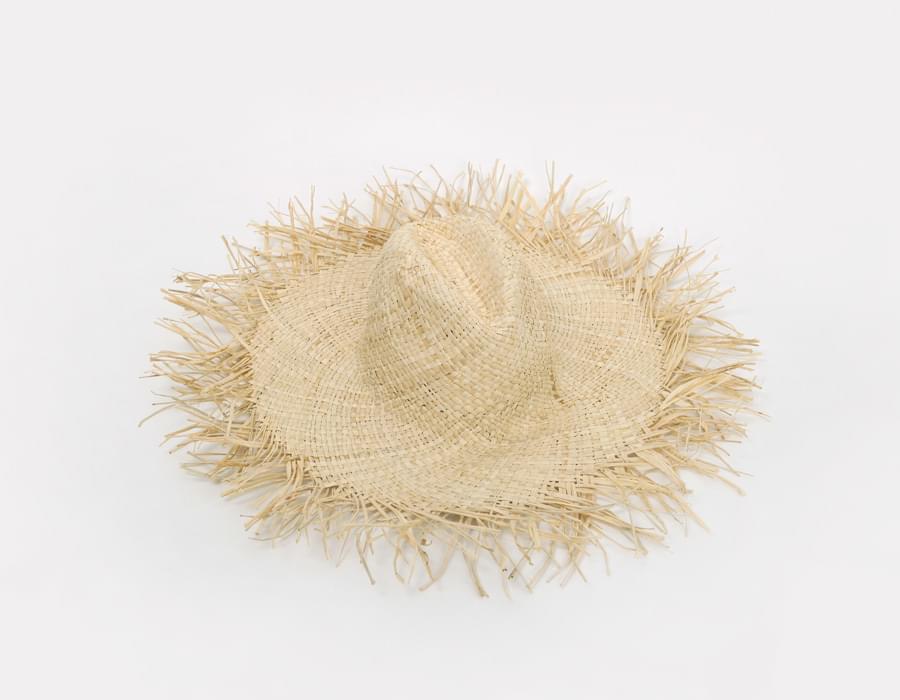 Crow wide straw hat_M (size : one)