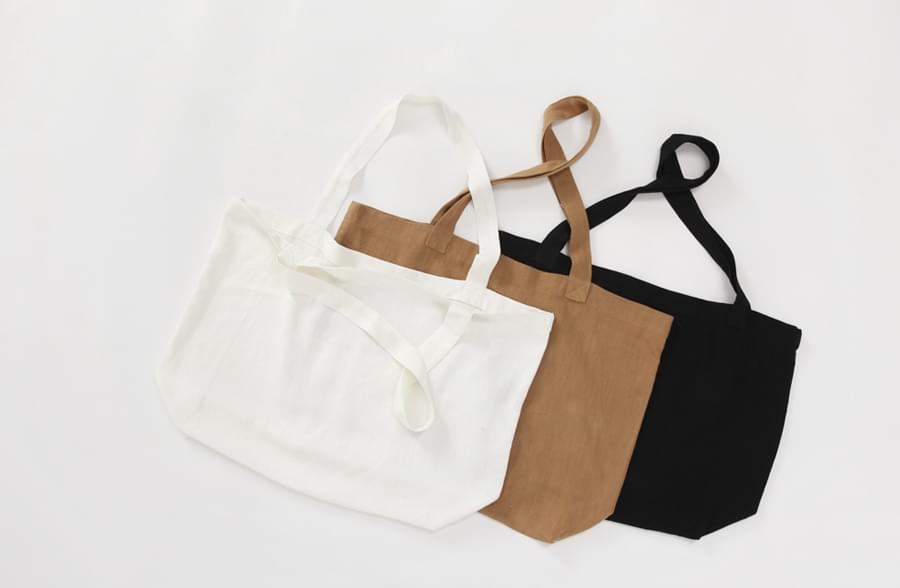 Hand simple cotton bag_H (size : one)