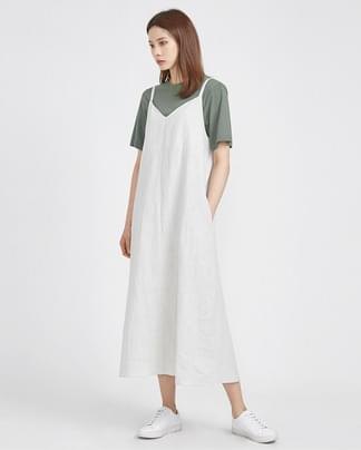 flare linen sleeveless ops (2 colors)