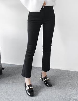 Rookie black boots cut pants