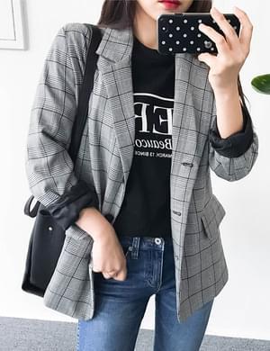 웨이타임체크자켓
