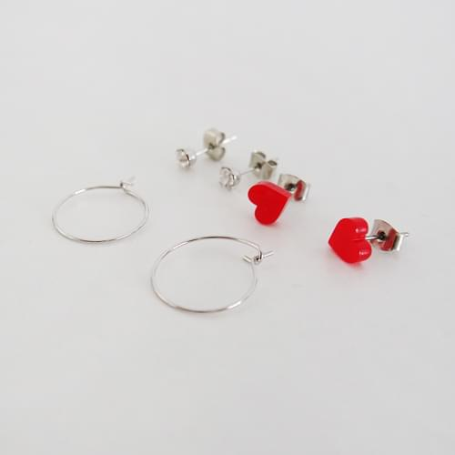 Heart Cubic Ring E