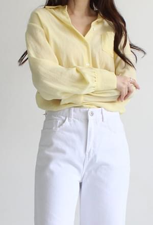Natural pocket blouse (5color)