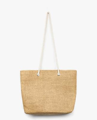 rope point straw bag (2 colors)