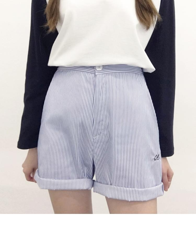 SEEK Stripe Twill Short Pants