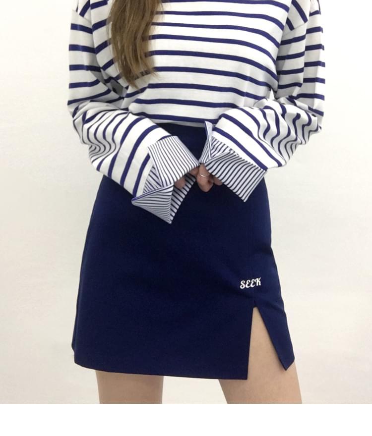 SEEK Slit Point Skirt Pants