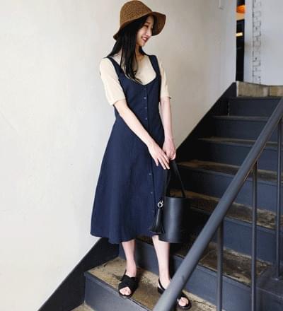 Picnic linen string dress