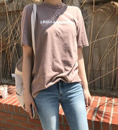 Powder embroidery lettering tee