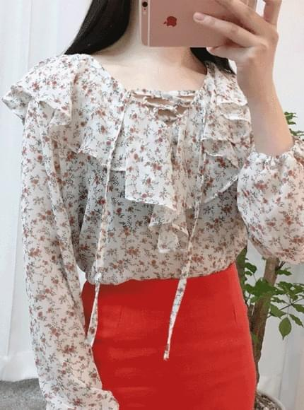 Flower Eyelet Blouse