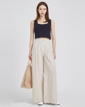 minimal crop sleeveless (2 colors)