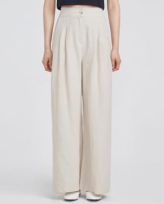 maxi pintuck wide rami slacks (2 colors)