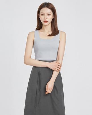 mild square neckline sleeveless (5 colors)