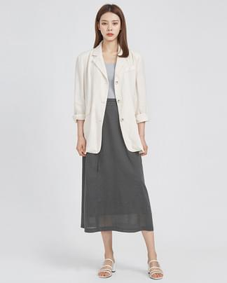 soft linen 3-button jacket (3 colors)