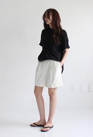 Pintuck half pants (2color)