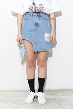 Ocean Cutting Denim Skirt