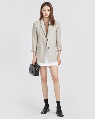 classic fit 2 button line jacket (2 colors)