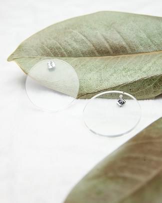 acrylic circle earring