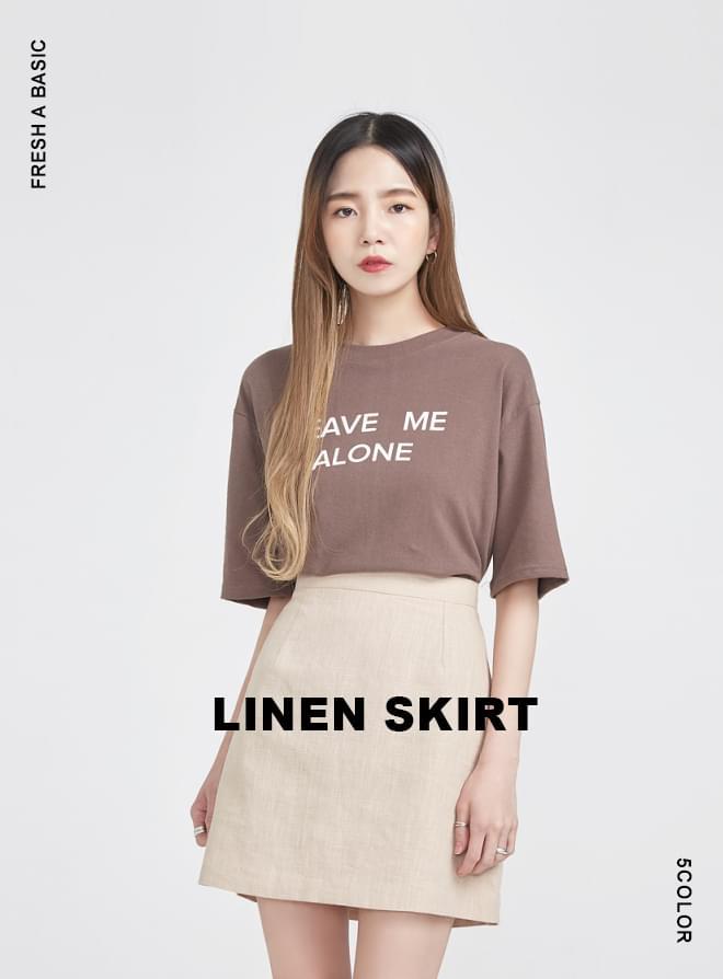 FRESH A basic linen skirt