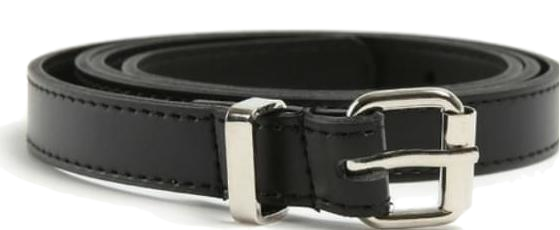 thin point buckle belt