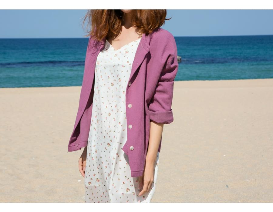 Muse cotton reversible cardigan_S (size : free)
