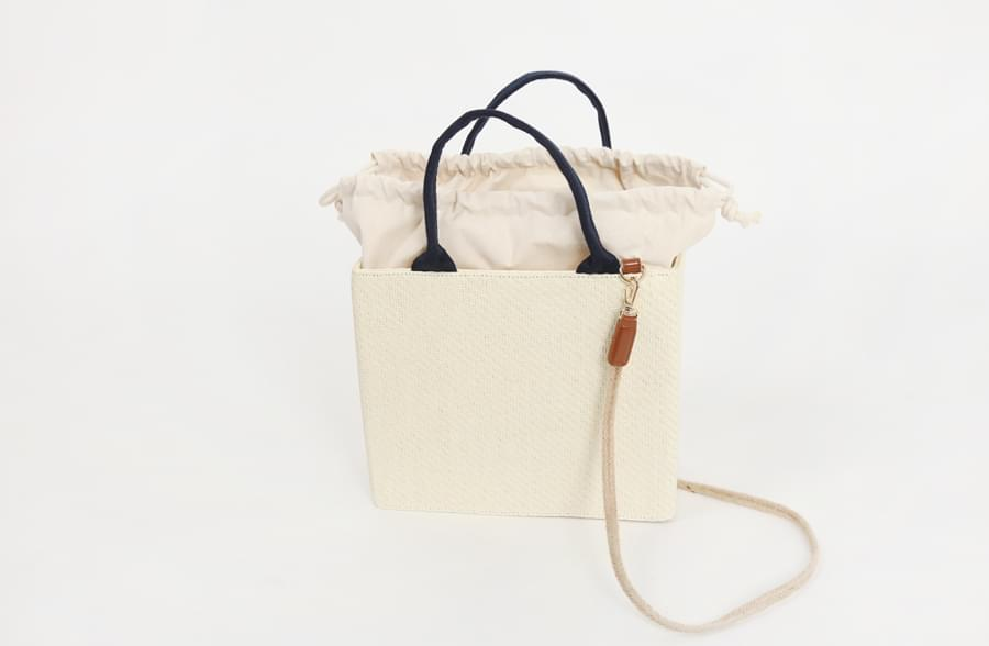 Wood square picnic bag_H (size : one)