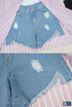 High heel denim short p