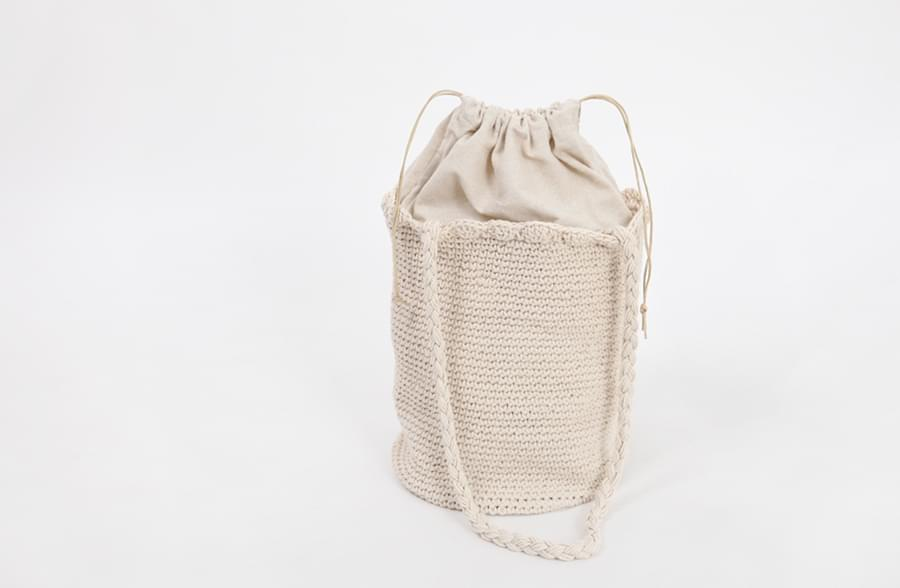 May knit sylinder bag_H (size : one)