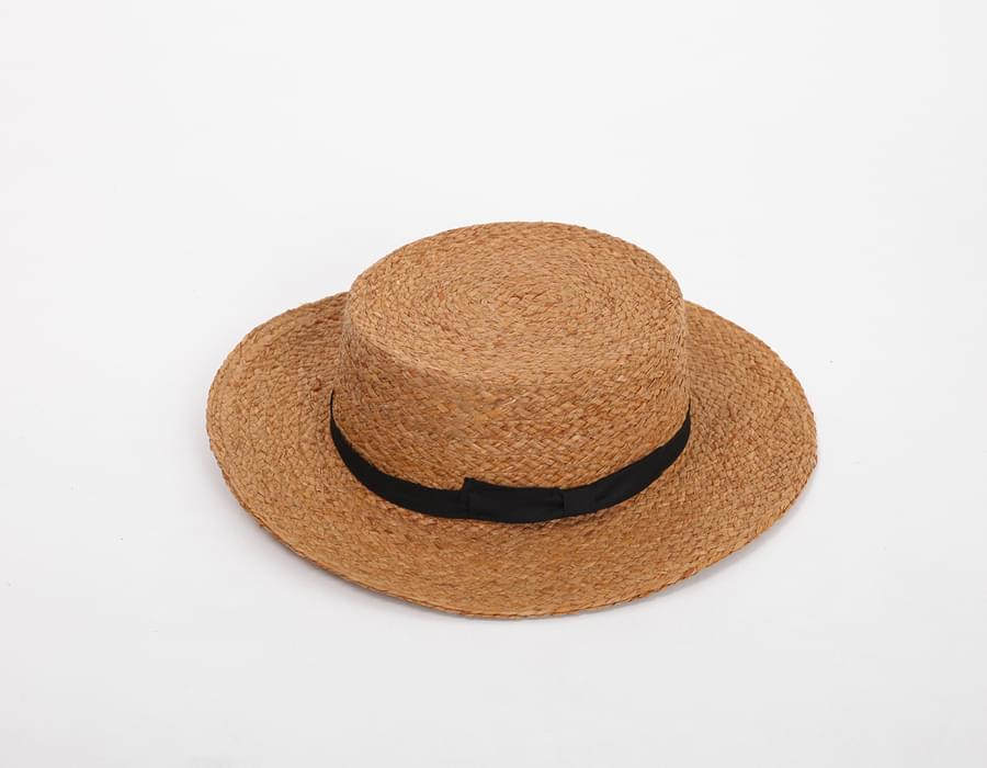 Tie brown panama hat_S (size : one)