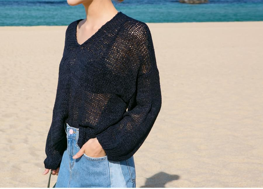 Summer cable loose knit_B (size : free)