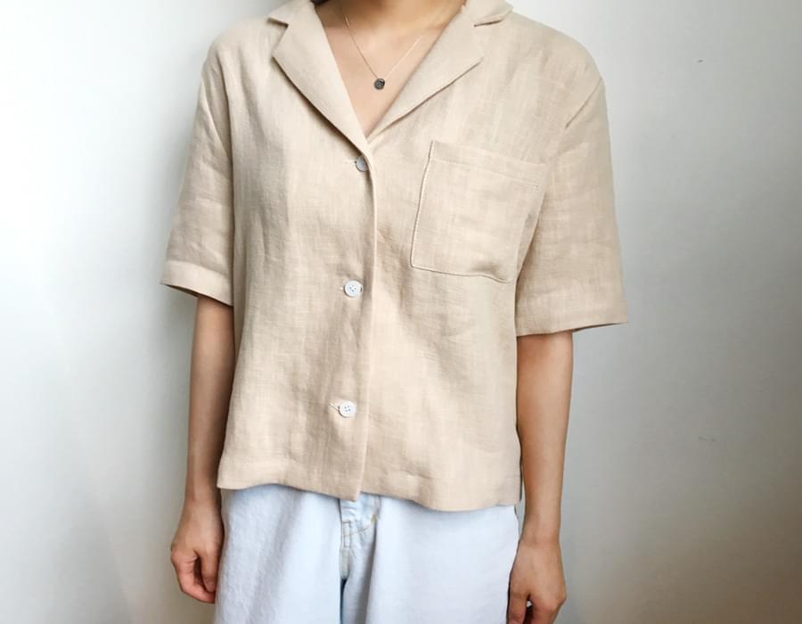 Must linen half jacket_M (size : free)