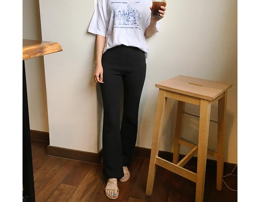 Made_bottom-109_cotton boots-cut pants (size : S,M)