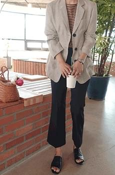 Indigo- Linen Jacket